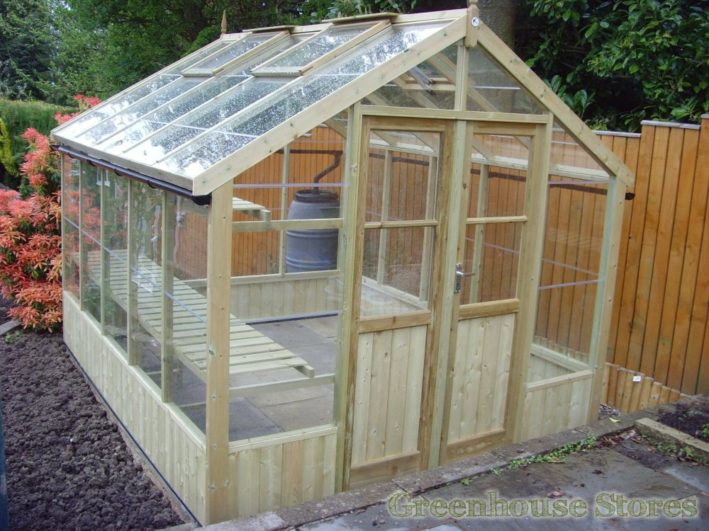 Swallow greenhouses the ultimate wooden greenhouse - How to build a wooden greenhouse ...